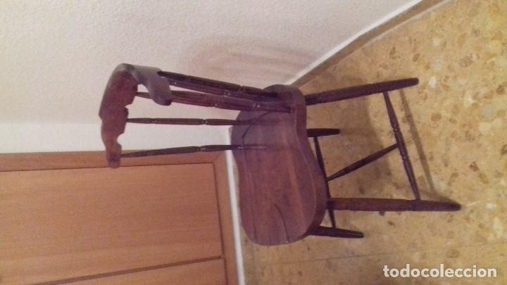 Antigüedades: Lote 4 sillas de bar restauradas - Foto 5 - 143342510