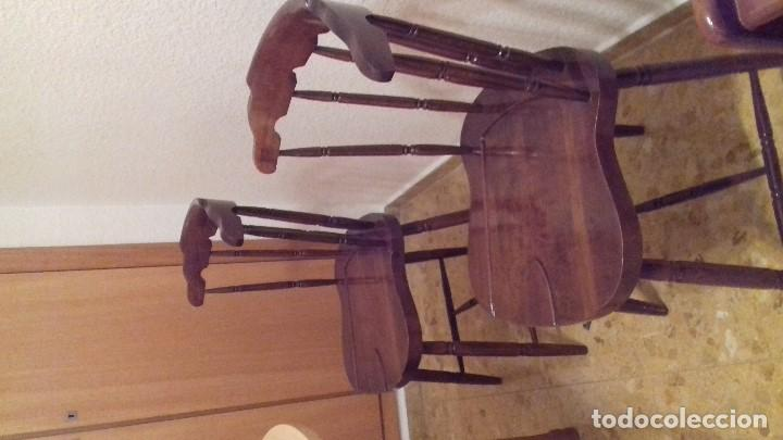 Antigüedades: Lote 4 sillas de bar restauradas - Foto 6 - 143342510