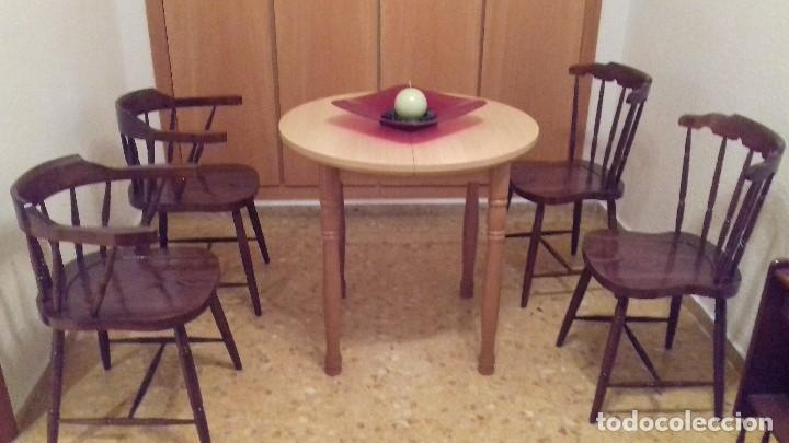 Antigüedades: Lote 4 sillas de bar restauradas - Foto 7 - 143342510