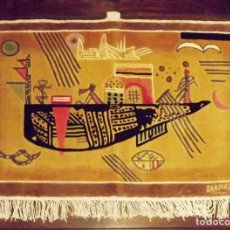 Antigüedades: KANDINSKI, ALFOMBRA TURCA DE PARED, 91 X 60 CM. MUY ALTO VALOR. Lote 143343602
