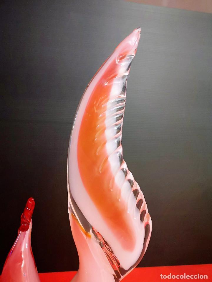 Antigüedades: Escultura Murano (Italia) gallo. 1960-1970. - Foto 12 - 143370646