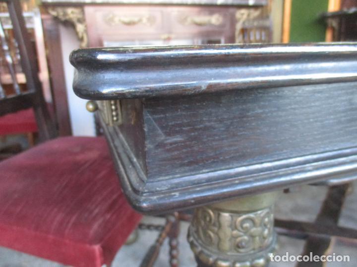 Antigüedades: Antiguo Comedor, Estilo Renacimiento - Madera de Roble - Decoraciones en Bronce - Circa 1900 - Foto 8 - 143378974