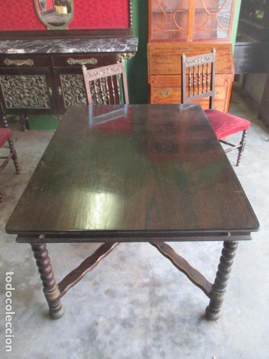 Antigüedades: Antiguo Comedor, Estilo Renacimiento - Madera de Roble - Decoraciones en Bronce - Circa 1900 - Foto 11 - 143378974