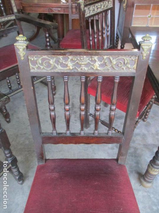 Antigüedades: Antiguo Comedor, Estilo Renacimiento - Madera de Roble - Decoraciones en Bronce - Circa 1900 - Foto 20 - 143378974