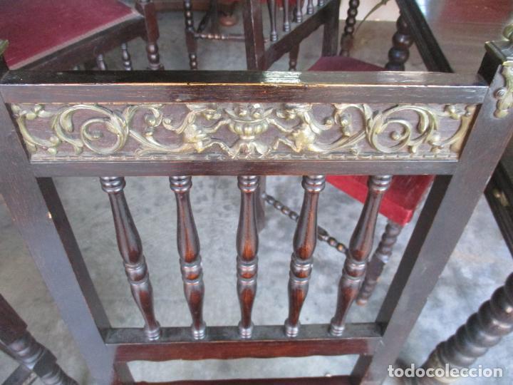 Antigüedades: Antiguo Comedor, Estilo Renacimiento - Madera de Roble - Decoraciones en Bronce - Circa 1900 - Foto 21 - 143378974
