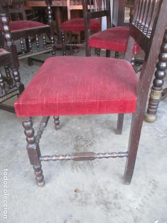 Antigüedades: Antiguo Comedor, Estilo Renacimiento - Madera de Roble - Decoraciones en Bronce - Circa 1900 - Foto 25 - 143378974