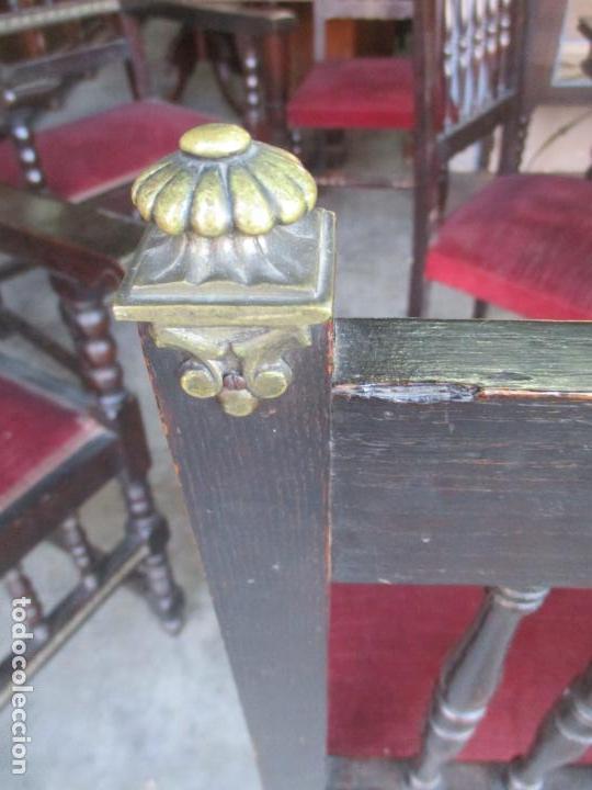 Antigüedades: Antiguo Comedor, Estilo Renacimiento - Madera de Roble - Decoraciones en Bronce - Circa 1900 - Foto 27 - 143378974
