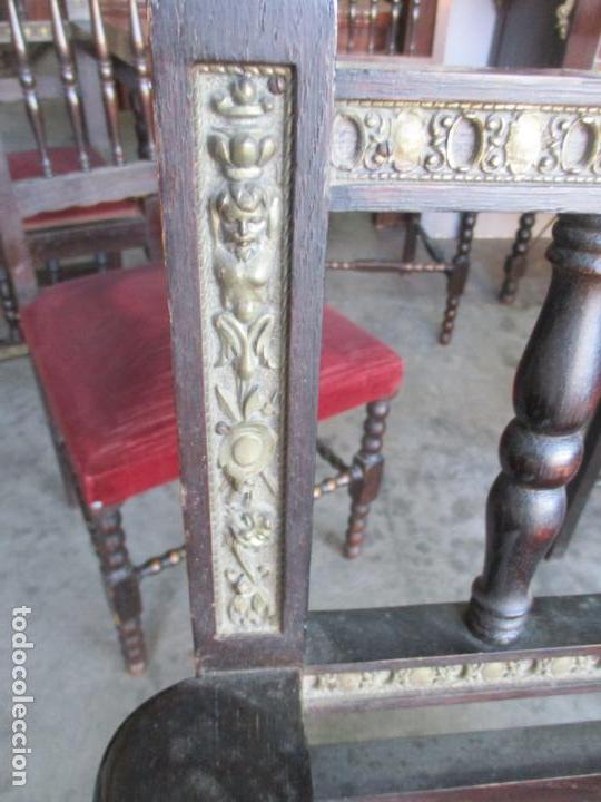 Antigüedades: Antiguo Comedor, Estilo Renacimiento - Madera de Roble - Decoraciones en Bronce - Circa 1900 - Foto 35 - 143378974