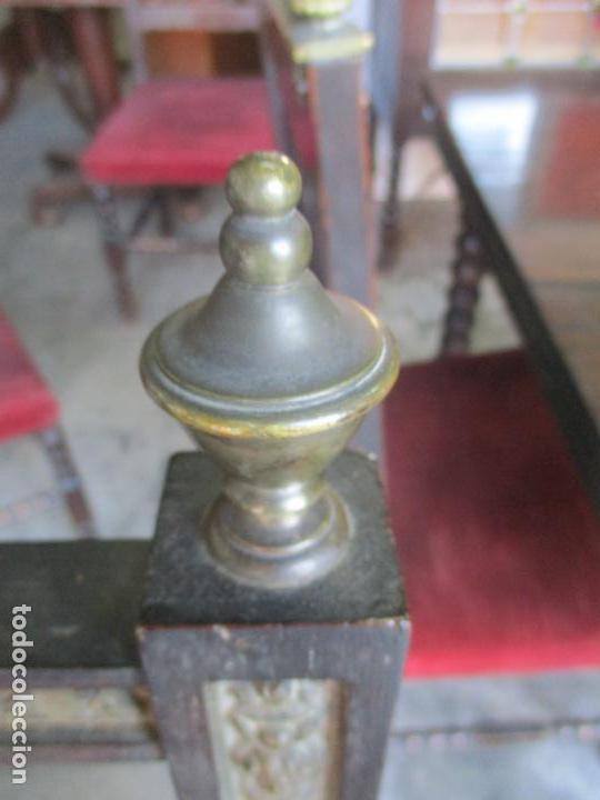 Antigüedades: Antiguo Comedor, Estilo Renacimiento - Madera de Roble - Decoraciones en Bronce - Circa 1900 - Foto 37 - 143378974