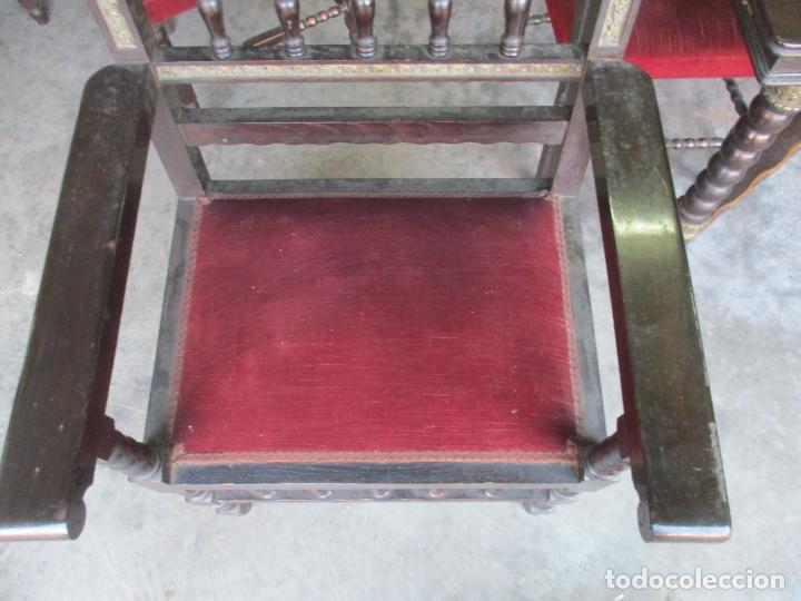 Antigüedades: Antiguo Comedor, Estilo Renacimiento - Madera de Roble - Decoraciones en Bronce - Circa 1900 - Foto 38 - 143378974