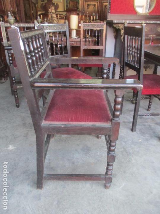 Antigüedades: Antiguo Comedor, Estilo Renacimiento - Madera de Roble - Decoraciones en Bronce - Circa 1900 - Foto 42 - 143378974