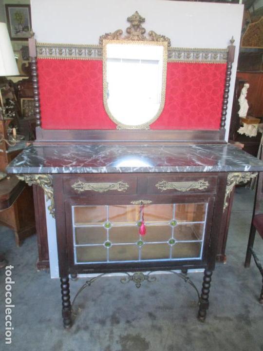 Antigüedades: Antiguo Comedor, Estilo Renacimiento - Madera de Roble - Decoraciones en Bronce - Circa 1900 - Foto 43 - 143378974
