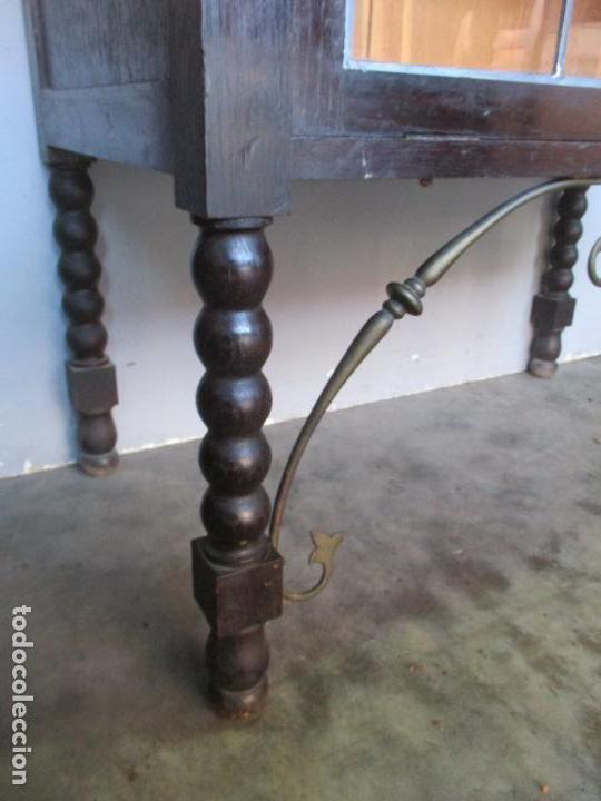 Antigüedades: Antiguo Comedor, Estilo Renacimiento - Madera de Roble - Decoraciones en Bronce - Circa 1900 - Foto 45 - 143378974