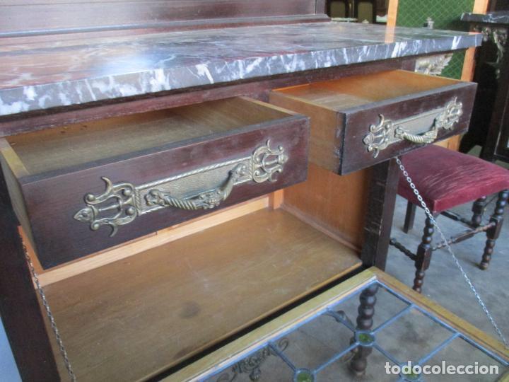 Antigüedades: Antiguo Comedor, Estilo Renacimiento - Madera de Roble - Decoraciones en Bronce - Circa 1900 - Foto 50 - 143378974