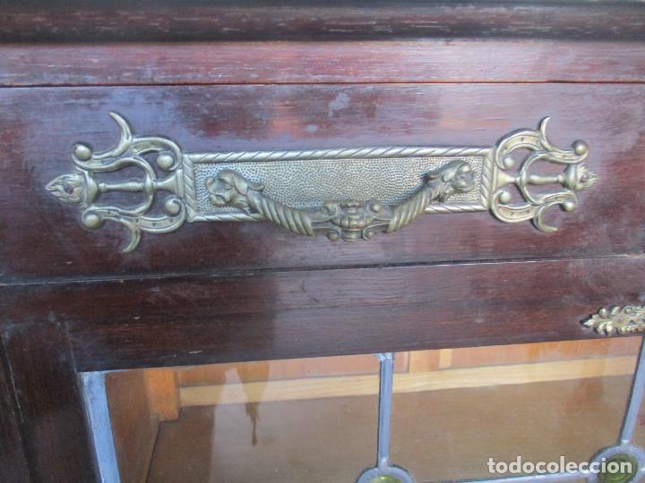 Antigüedades: Antiguo Comedor, Estilo Renacimiento - Madera de Roble - Decoraciones en Bronce - Circa 1900 - Foto 51 - 143378974