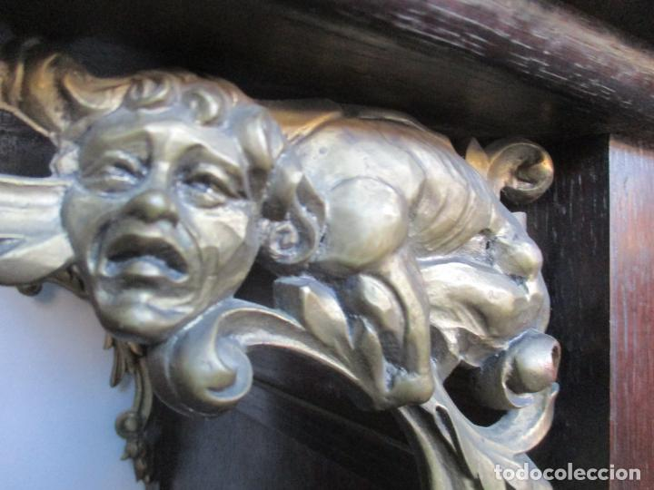 Antigüedades: Antiguo Comedor, Estilo Renacimiento - Madera de Roble - Decoraciones en Bronce - Circa 1900 - Foto 54 - 143378974
