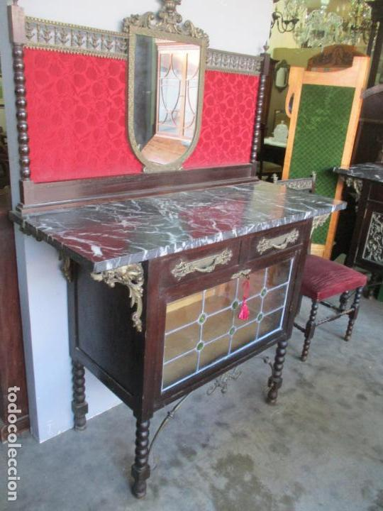 Antigüedades: Antiguo Comedor, Estilo Renacimiento - Madera de Roble - Decoraciones en Bronce - Circa 1900 - Foto 59 - 143378974