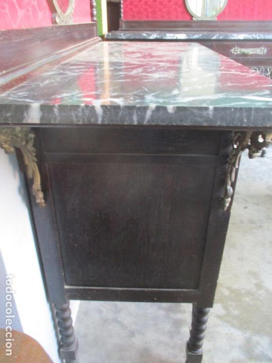 Antigüedades: Antiguo Comedor, Estilo Renacimiento - Madera de Roble - Decoraciones en Bronce - Circa 1900 - Foto 61 - 143378974