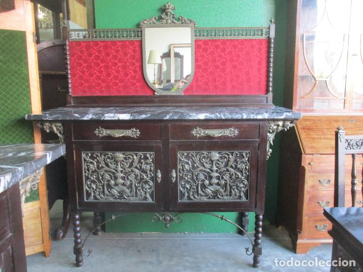 Antigüedades: Antiguo Comedor, Estilo Renacimiento - Madera de Roble - Decoraciones en Bronce - Circa 1900 - Foto 67 - 143378974