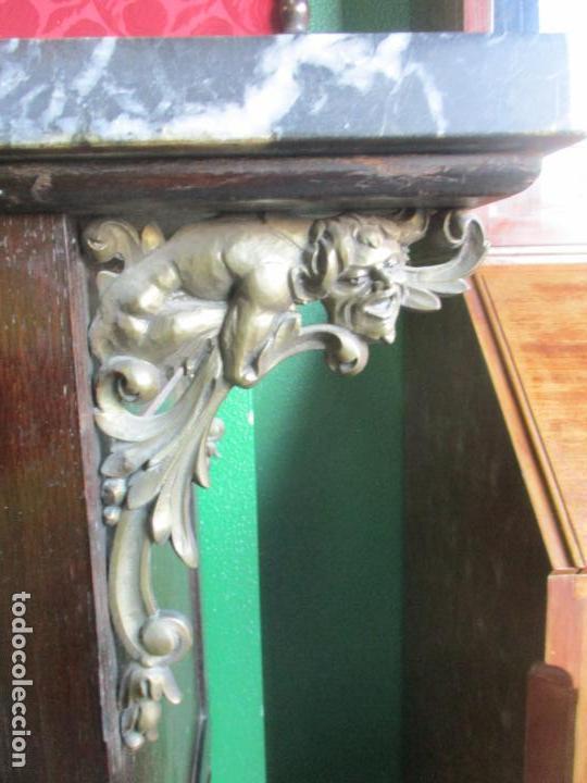 Antigüedades: Antiguo Comedor, Estilo Renacimiento - Madera de Roble - Decoraciones en Bronce - Circa 1900 - Foto 82 - 143378974