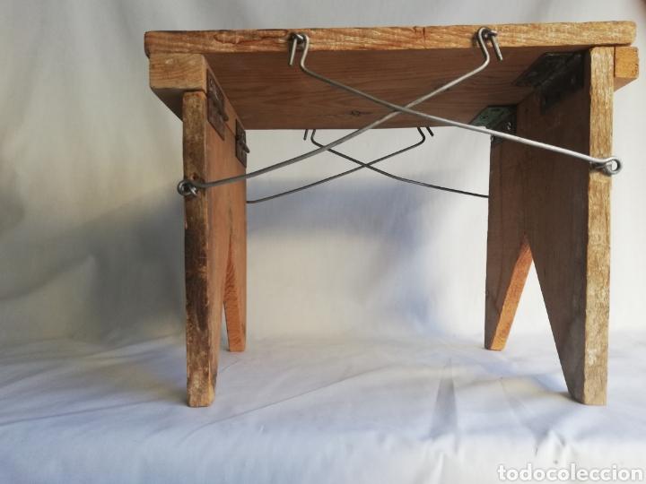 Antigüedades: Curiosa silla de madera plegable antigua - Foto 2 - 143383808