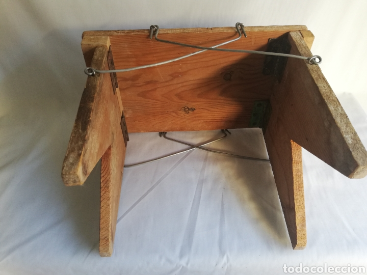 Antigüedades: Curiosa silla de madera plegable antigua - Foto 3 - 143383808
