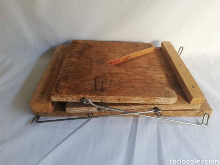 Antigüedades: Curiosa silla de madera plegable antigua - Foto 4 - 143383808