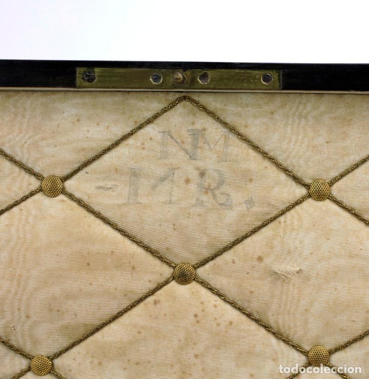 Antigüedades: Caja chapada de jacaranda, finales siglo XIX, etiqueta de Cuba, La Polka, Habana. 22x15x8,5cm - Foto 4 - 143393826