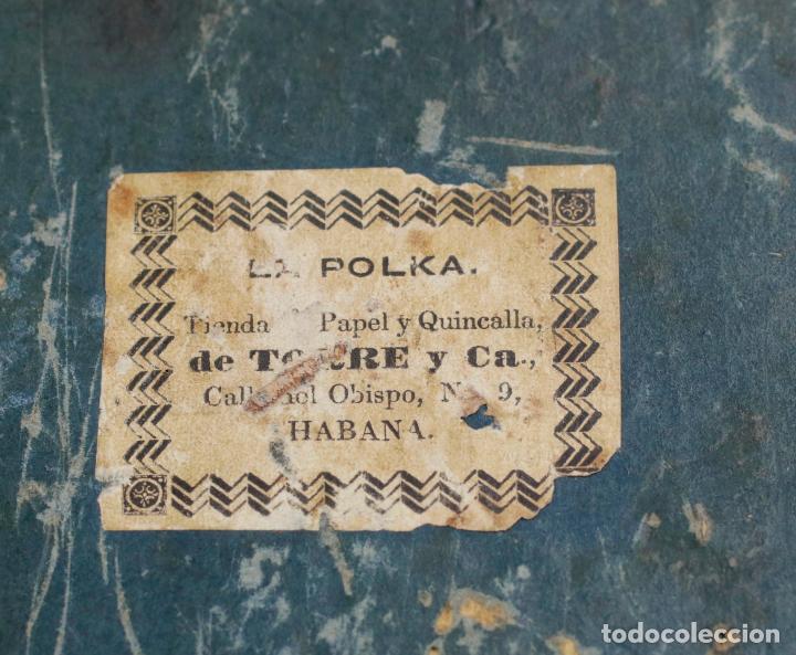 Antigüedades: Caja chapada de jacaranda, finales siglo XIX, etiqueta de Cuba, La Polka, Habana. 22x15x8,5cm - Foto 8 - 143393826