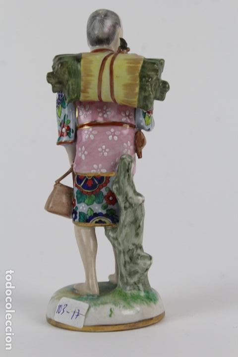 Antigüedades: PORCELANA INGLESA.CAMPESINO ASIATICO.PRINCIPIOS DE SIGLO XX. - Foto 3 - 143401994
