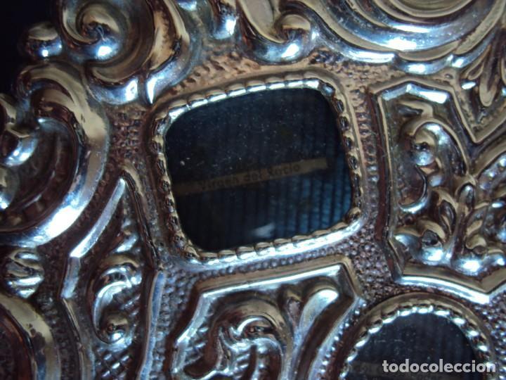 Antigüedades: (ANT-18122)RELICARIO GRANDES DIMENSIONES METAL PLATEADO - Foto 2 - 143404410