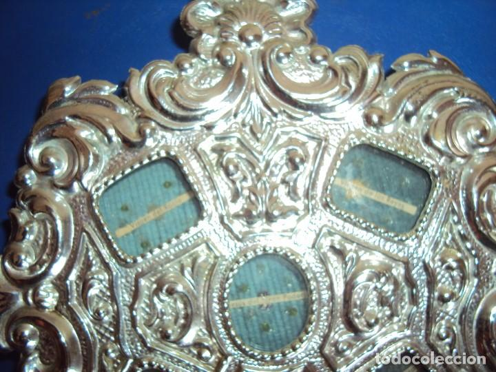 Antigüedades: (ANT-18122)RELICARIO GRANDES DIMENSIONES METAL PLATEADO - Foto 10 - 143404410