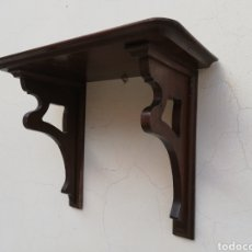 Antigüedades: GRAN MENSULA PEANA ESTANTERÍA DE MADERA ANTIGUA. Lote 143412889