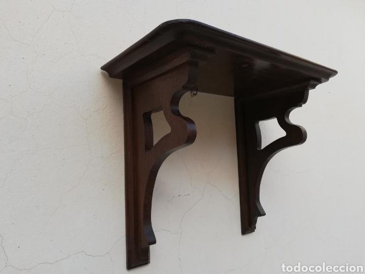 Antigüedades: Gran mensula peana de madera antigua - Foto 2 - 143412889