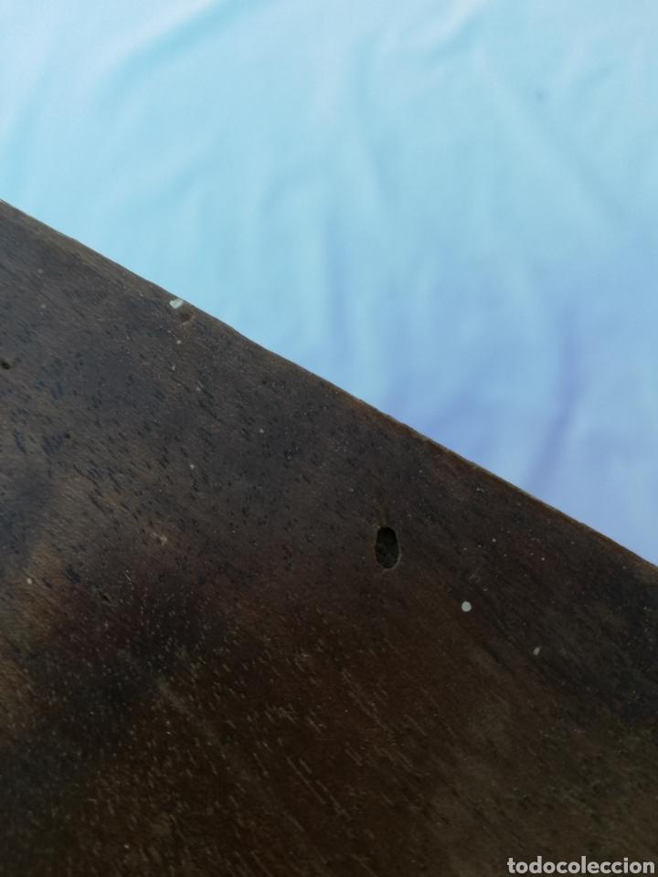 Antigüedades: Gran mensula peana de madera antigua - Foto 9 - 143412889