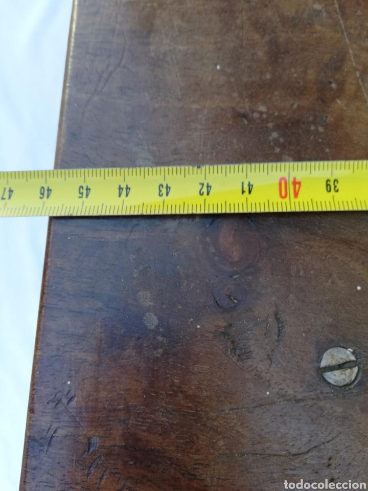 Antigüedades: Gran mensula peana de madera antigua - Foto 7 - 143412889