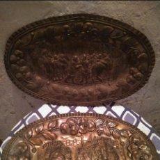 Antigüedades: PLATOS LATÓN DECORATIVOS. Lote 143541506
