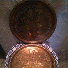 Antigüedades: PEQUEÑOS PLATOS ÁRABES. Lote 143541782