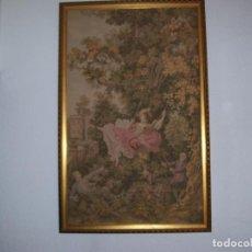 Antigüedades: CUADRO TAPIZ AÑOS 60. Lote 143543498