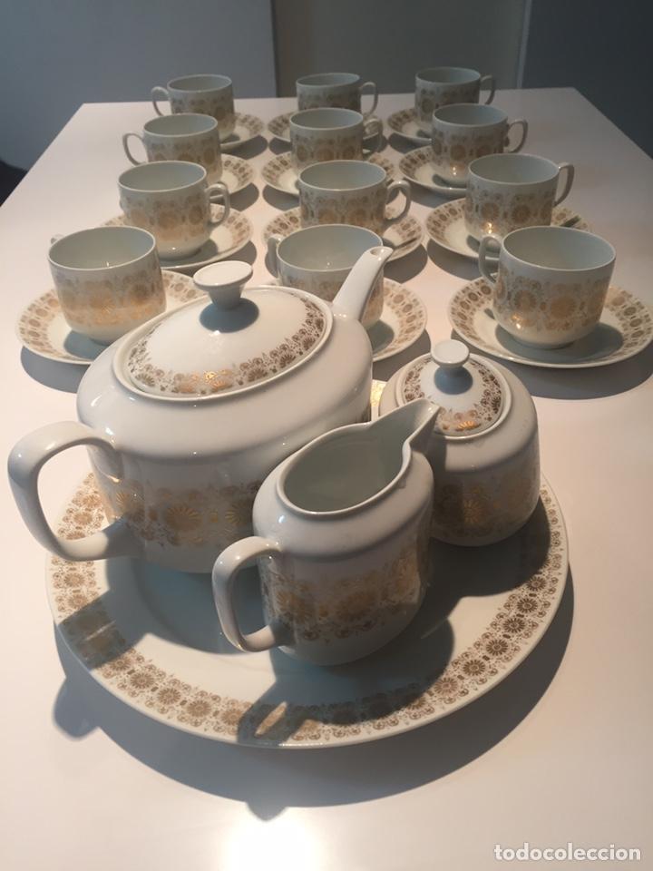 JUEGO DE CAFÉ O TE HUTSCHENREUTHER (Antigüedades - Porcelana y Cerámica - Alemana - Meissen)
