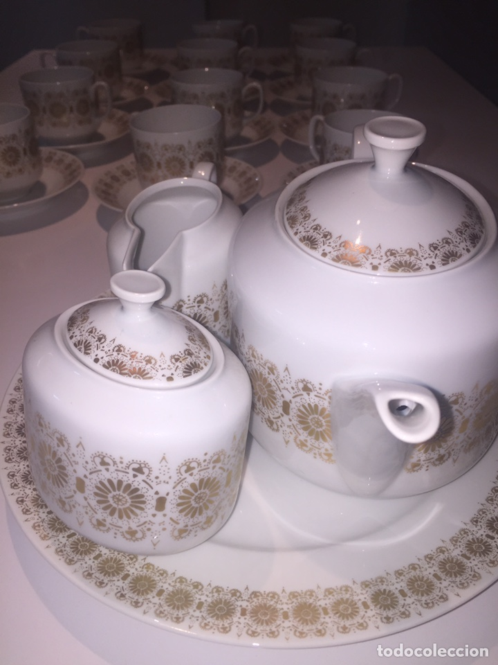 Antigüedades: Juego de café o te Hutschenreuther - Foto 4 - 143549740