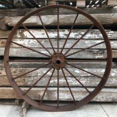 Antigüedades: RUEDA DE CARRO. Lote 143565966