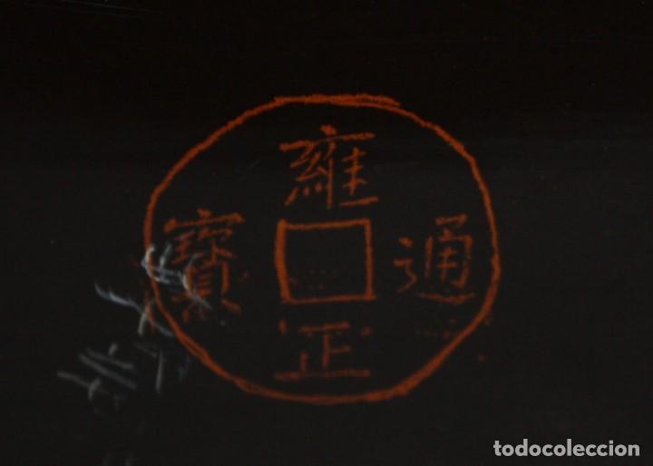 Antigüedades: BAUL EN MADERA LACADA CHINA CON ESCENAS ORIENTALES. MEDIADOS SIGLO XX - Foto 15 - 143566518