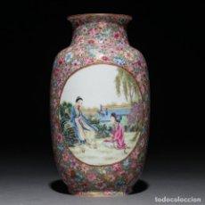 Antigüedades: JARRON CHINO PORCELANA HACIA 1940/1950. Lote 143595858