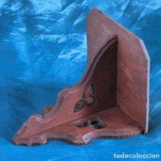 Antigüedades: ANTIGUA Y PEQUEÑA MÉNSULA DE MADERA - DECORACIÓN ESTILO GÓTICO - IDEAL IMAGEN RELIGIOSA - TALLA . Lote 143606482
