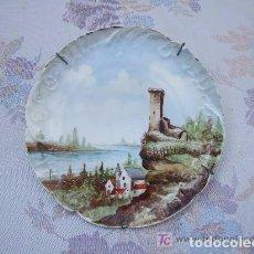 Antigüedades: PLATO PORCELANA PAISAJE. Lote 143611182
