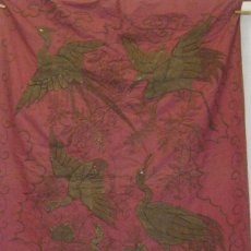 Antigüedades: ANTIGUO TAPIZ JAPONES S. XIX. Lote 143613574