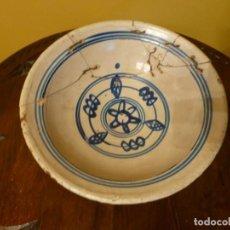 Antigüedades: FUENTE ANTIGUA DE CERÁMICA TRADICIONAL ASTURIANA EL RAYU. Lote 143613626