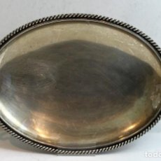 Antigüedades: BANDEJA DE PLATA DE 915 MILÉSIMAS (CONTRASTE ESTRELLA) DE 370 GRAMOS DE PESO.. Lote 143616322