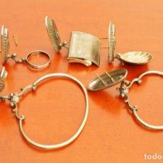 Antigüedades: JUEGO DE BAÑO DE METAL 5 PIEZAS. Lote 143631106